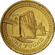 UK One Pound Forth Railway Bridge 2004 British Royal Mint Proof KM# 1048 ONE POUND coin reverse