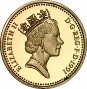 UK One Pound Northern Irish Flax 1991 Proof KM# 946 ELIZABETH II D∙G∙REG∙F∙D∙1986 RDM coin obverse