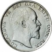 UK One Shilling Edward VII 1902 KM# 800 EDWARDVS VII DEI GRA BRITT: OMN: REX coin obverse