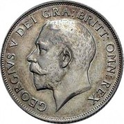 UK One Shilling George V 1911 KM# 816 GEORGIVS V DEI GRA:BRITT:OMN:REX B.M. coin obverse