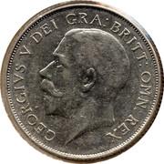 UK One Shilling George V 1923 KM# 816a GEORGIVS V DEI GRA:BRITT:OMN:REX coin obverse