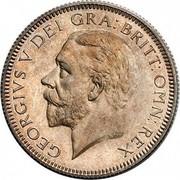 UK One Shilling George V 1930 Proof KM# 833 GEORGIVS V DEI GRA:BRITT:OMN:REX coin obverse