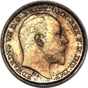 UK Penny Edward VII 1902 Prooflike KM# 795 EDWARDVS VII D:G: BRITT: OMN: REX REGINA∙F:D: IND: IMP: DES. coin obverse