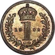 UK Penny Edward VII 1902 Prooflike KM# 795 *YE 1 AR* coin reverse