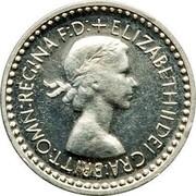 UK Penny Elizabeth II (Maundy pre-decimal; 1st issue) 1953 Prooflike KM# 884 + ELIZABETH II DEI GRA:BRITT:OMN:REGINA F:D: coin obverse