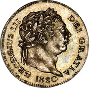 UK Penny George III 1820 KM# 668 GEORGIUS III DEI GRATIA coin obverse