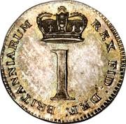 UK Penny George III 1820 KM# 668 BRITANNIARUM REX FID DEF 1 coin reverse