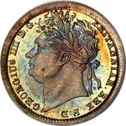 UK Penny George IV 1829 Prooflike KM# 683 GEORGIUS IIII D.G. BRITANNIAR. REX F.D. coin obverse