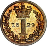 UK Penny George IV 1829 Prooflike KM# 683 1 coin reverse