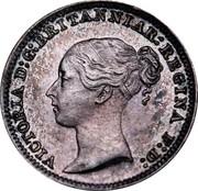 UK Penny Victoria 1887 Prooflike KM# 727 VICTORIA D:G: BRITANNIAR: REGINA F:D: coin obverse