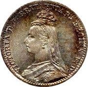 UK Penny Victoria 1891 Prooflike KM# 770 VICTORIA D:G: BRITANNIAR REGINAF:D: coin obverse