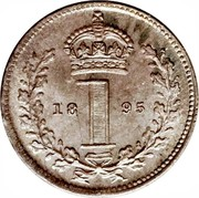 UK Penny Victoria 1895 Prooflike KM# 775 1 coin reverse