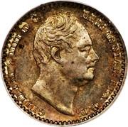 UK Penny William IV 1834 Prooflike KM# 708 GULIELMUS IIII D:G: BRITANNIAR: REX F:D: coin obverse