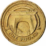UK Pound Egyptian Arch Bridge 2006 British Royal Mint Proof KM# 1059 ONE POUND coin reverse