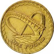 UK Pound Gateshead Millennium Bridge 2007 British Royal Mint KM# 1074 ONE POUND coin reverse