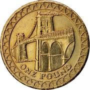 UK Pound Menai Bridge 2005 British Royal Mint Proof KM# 1051 ONE POUND coin reverse