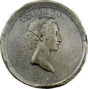 USA Quarter 1792 KM# PnL1 Issues of 1792 LIBERTY. coin obverse