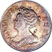 UK Shilling Anne (2nd bust) VIGO below 1703 KM# 517.1 ANNA ∙ DEI ∙ - GRATIA ∙ coin obverse