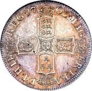 UK Shilling Anne (2nd bust) VIGO below 1703 KM# 517.1 MAG - BR ∙ FRA - ET ∙ HIB - REG ∙ coin reverse