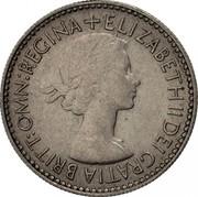 UK Six Pence Elizabeth II 1953 Proof KM# 889 + ELIZABETH II DEI GRATIA BRITT:OMN:REGINA coin obverse