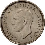 UK Six Pence George VI 1951 Proof KM# 875 GEORGIVS VI D:G:BR:OMN:REX HP coin obverse