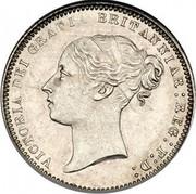 UK Six Pence Victoria 1871 KM# 751.1 VICTORIA DEI GRATIA BRITANNIAR: REG: F: D: coin obverse