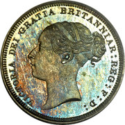 UK Six Pence Victoria 1883 KM# 757 VICTORIA DEI GRATIA BRITANNIAR: REG: F: D: coin obverse
