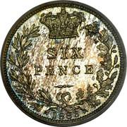 UK Six Pence Victoria 1883 KM# 757 SIX PENCE coin reverse