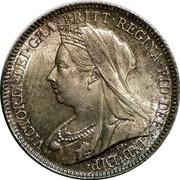 UK Six Pence Victoria 1899 KM# 779 VICTORIA ∙ DEI ∙ GRA ∙ BRITT ∙ REGINA ∙ FID ∙ DEF ∙ IND ∙ coin obverse