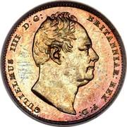UK Six Pence William IV 1835 KM# 712 GULIELMUS IIII D:G: BRITANNIAR: REX F:D: coin obverse