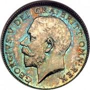 UK Sixpence George V Modified head 1911 KM# 815 GEORGIVS V DEI GRA: BRITT: OMN: REX B.M. coin obverse