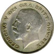 UK Sixpence George V Modified head 1922 KM# 815a.1 GEORGIVS V DEI GRA: BRITT: OMN: REX B.M. coin obverse