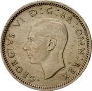 UK Sixpence George VI 1948 Proof KM# 862 GEORGIVS VI D:G:BR:OMN:REX HP coin obverse