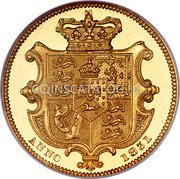 UK Sovereign 1831 KM# 717 British Royal Mint Sovereign Coins coin reverse
