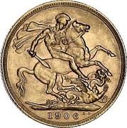 UK Sovereign Edward VII 1906 KM# 805 1906 B.P. coin reverse