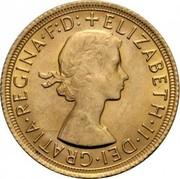 UK Sovereign Elizabeth II 1968 KM# 908 +ELIZABETH∙II∙DEI∙GRATIA∙REGINA∙F:D: coin obverse