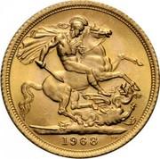 UK Sovereign Elizabeth II 1968 KM# 908 1968 B.P. coin reverse