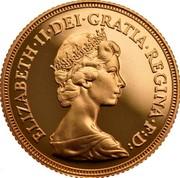 UK Sovereign Elizabeth II (2nd portrait) 1980 KM# 919 ELIZABETH∙II∙DEI∙GRATIA∙REGINA∙F:D: coin obverse