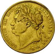 UK Sovereign George IIII 1821 KM# 682 GEORGIUS IIII D:G: BRITANNIAR: REX F:D: coin obverse