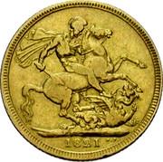 UK Sovereign George IIII 1821 KM# 682 B. P. coin reverse