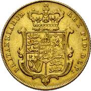 UK Sovereign George IV 1829 KM# 696 BRITANNIARUM REX FID: DEF: coin reverse