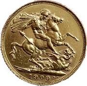 UK Sovereign Victoria 1900 KM# 785 1893 B.P. coin reverse