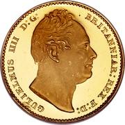 UK Sovereign William IV 1831 KM# 717 GULIELMUS IIII D:G: BRITANNIAR: REX F:D: coin obverse