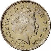 UK Ten Pence Crowned lion 4th portrait 2004 KM# 989 ELIZABETH∙II∙D∙G REG∙F∙D∙2000 IRB coin obverse