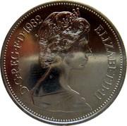 UK Ten Pence Elizabeth II 1982 Proof KM# 930 D∙G∙REG∙F∙D∙1982 ELIZABETH∙II coin obverse