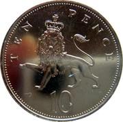 UK Ten Pence Elizabeth II 1982 Proof KM# 930 TEN PENCE 10 coin reverse