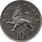 UK Ten Pence Elizabeth II 1986 KM# 938 TEN PENCE 10 coin reverse
