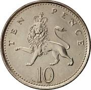 UK Ten Pence Elizabeth II 1992 KM# 938b TEN PENCE 10 coin reverse