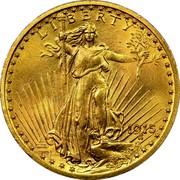 USA Twenty Dollars St. Gaudens Double Eagle 1915 KM# 131 LIBERTY DATE coin obverse