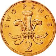 UK Two Pence Elizabeth II 1982 Proof KM# 928 TWO PENCE ICH DIEN 2 coin reverse